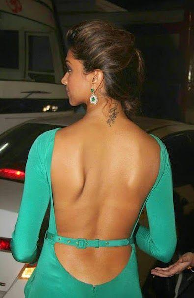 Indian Films Bollywood Famous Actress and Model Deepika Padukone Bare Back Backless in Dress Pictures. Deepika Padukone act in English, Hindi, Tamil, Telugu, Kannada Language Movie.