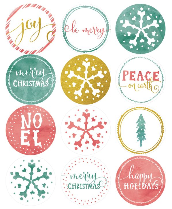 Free printable round holiday label template part of a collection by falala designs by