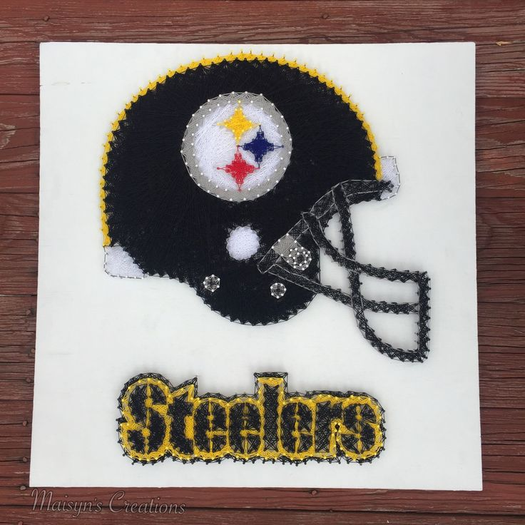 Steelers Helmet String Art by MaisynsCreations on Etsy