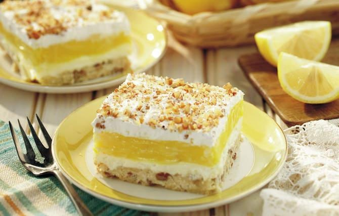 Luscious Lemon Delight - Grandma often doubled this recipe, because we all wanted a second helping.: Fun Recipes, Luscious Lemon Delight, Lusciouslemon, Summer Desserts, Chocolates Puddings, Second Help, Lemon Desserts, Cream Chee, Lemon Bar