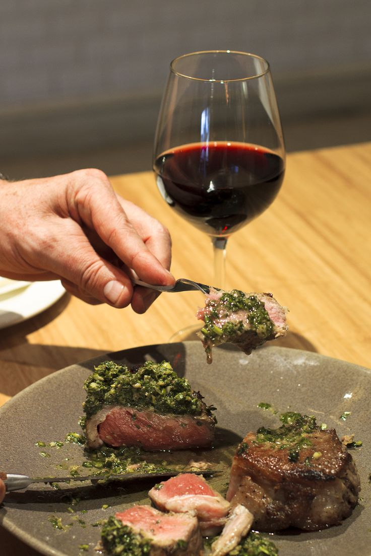 Chimichurri steak with red wine at Peddlars & Co.