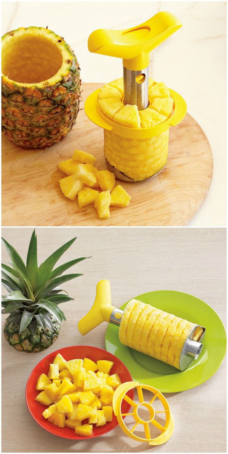 pineapple slicer. so much easier.