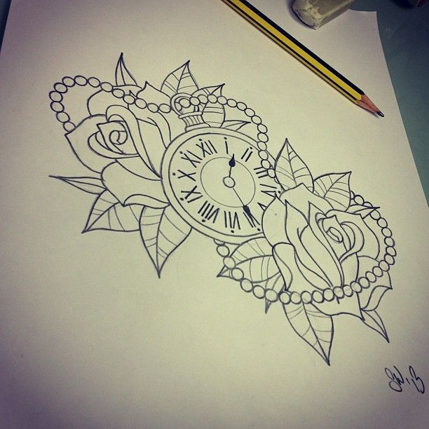 All Seeing Eye - Heckmondwike Tattoo Studio — Pocket watch and roses. I know they've been done a...