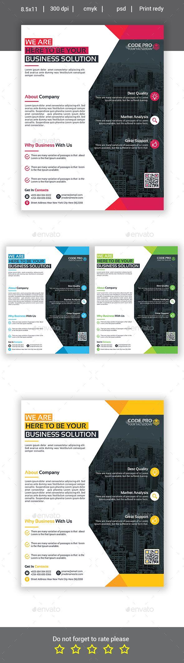 Business Flyer Design - Corporate Flyer Template PSD. Download here: https://graphicriver.net/item/business-flyer/16930530?s_rank=74&ref=yinkira