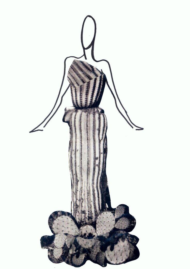 Stellita PinK StaR: DISEGNI- dress COLLAGE cactus