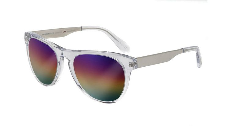 Oliver Peoples Braverman Fashion X Guide Crystal with Rainbow Mirror - $550