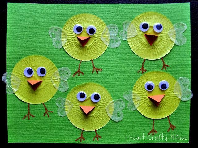 Cupcake Liner Chicks - So CUTE!!