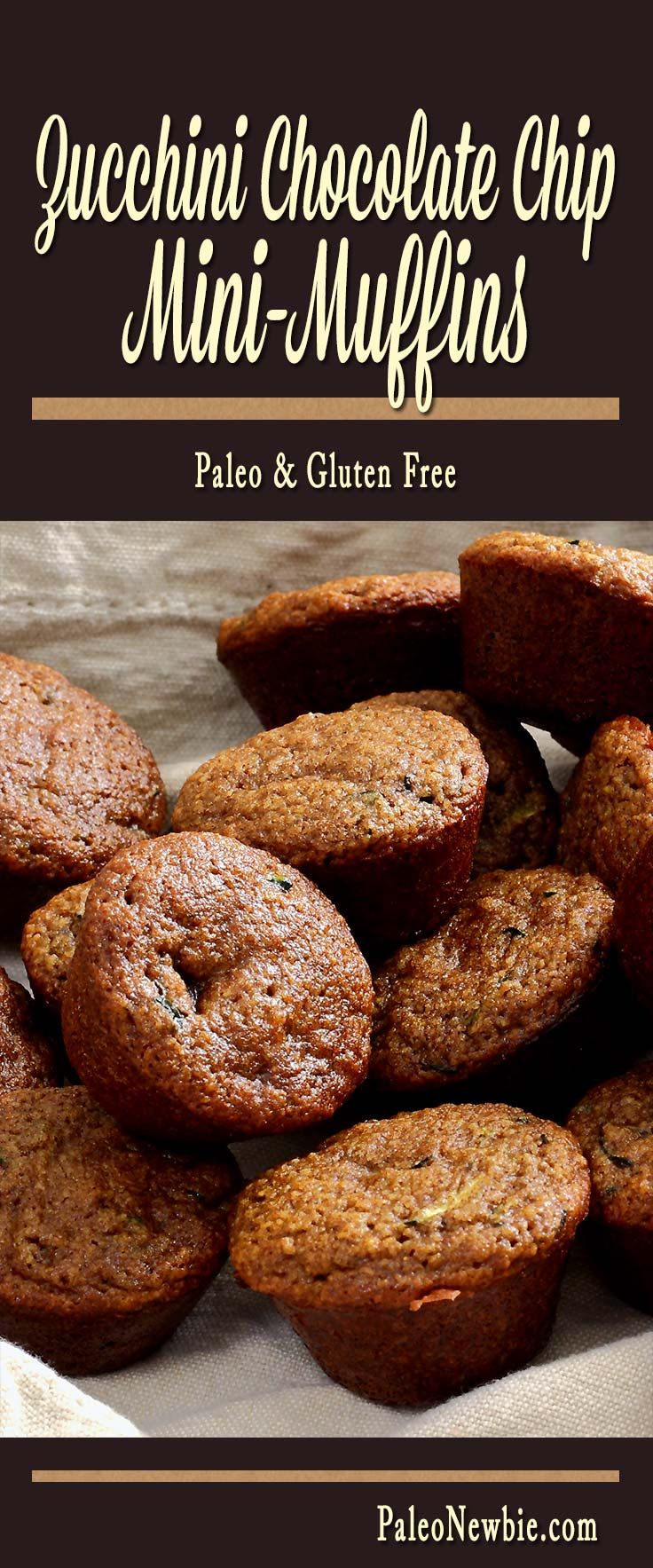 Healthy little muffins with a BIG taste! Slightly sweet with extra cinnamon and a sprinkling of dark chocolate chips inside. A great kids' snack – they'll never taste the zucchini!