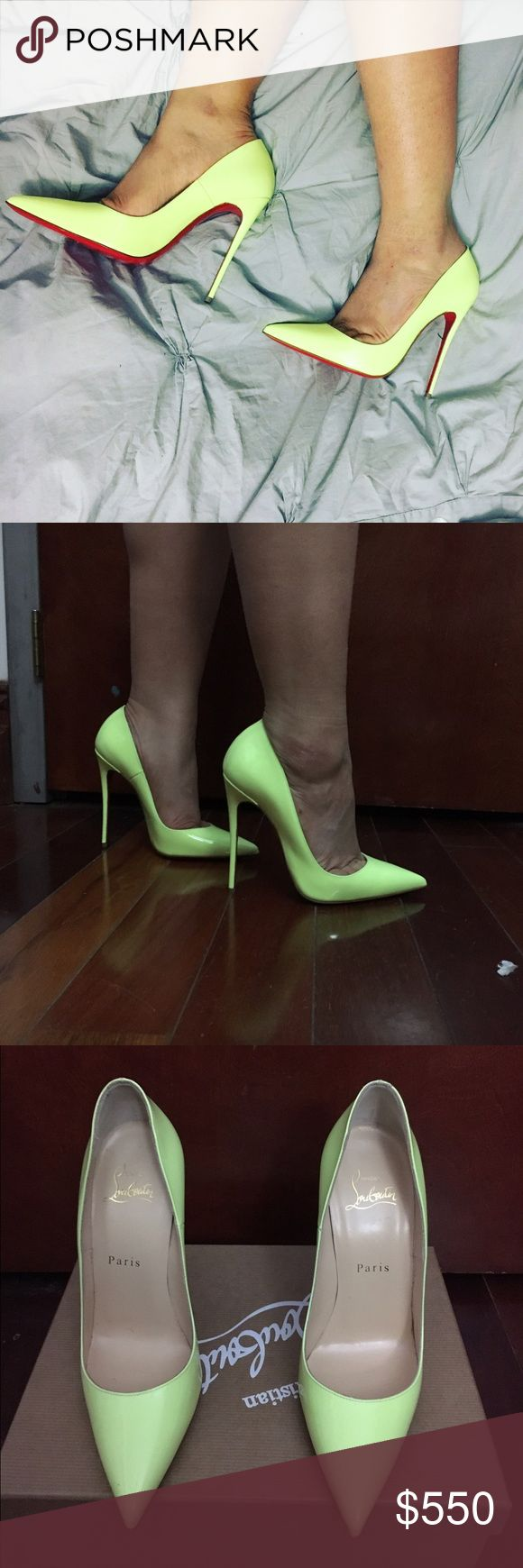 Christian Louboutin so Kate 120 neon pumps New in box, only tried on. Christian Louboutin Shoes Heels