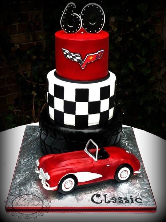Happy Birthday Drag Racing Cake