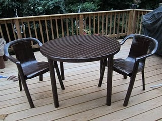 Dirty, Moldy, Ugly, White Plastic Patio Furniture Given A New Life After  Itu0027s Part 63