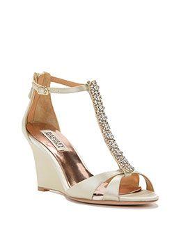 Romance Satin Wedge Evening Shoe