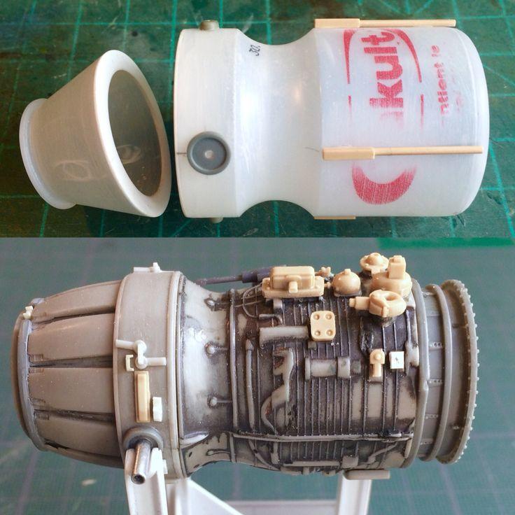 Scratchbuilding a MaK's engine from a Yakult bottle