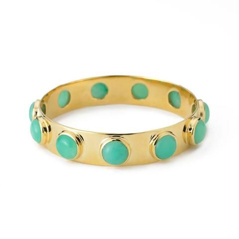 10 Stone Bangle Chrysoprase on semi annual sale @ #margaretelizabeth