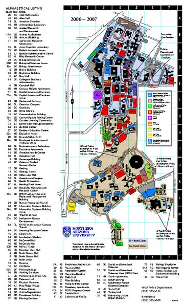 Northern Arizona University Campus Map | Northern Arizona University Map - Flagstaff Arizona • mappery