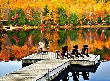muskoka lakes...my aunt and uncle had a cottage on Muskoka Lake and I spent some of my summers as a kid here....w.