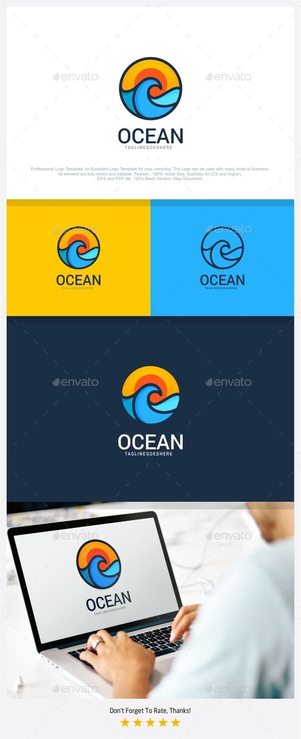 Ocean - Travel Logo - How does a day at the beach sound? Enjoying those cool waves on your sun-kissed skin? #bliss #ocean #travel #beach #logo