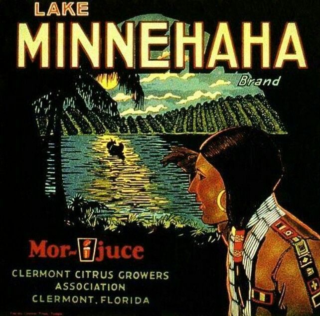 Rialto Minnehaha Indians Orange Crate Label Art Print
