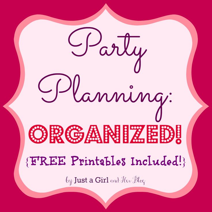 Cute FREE printables to help organize all of your party details! | Just a Girl and Her Blog