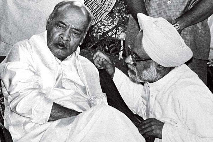 Manmohan Singh with PV Narasimha Rao