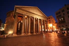The Pantheon - our favorite Roman monument http://duespaghetti.com/2012/04/22/cacio-e-pepe-happy-birthday-roma/