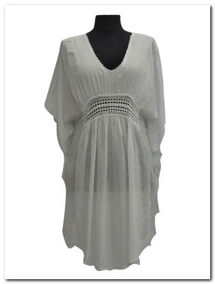 CROCHET TOP Rayon Kaftan Ideal as Cover-up or Cocktail Wear | Beach Wear Beach Fashion Bali