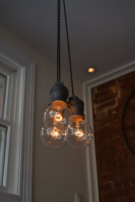 CUSTOM LISTING for E......Pendant Light - Industrial Triple Twisted Wire Pendant Light [Edison Bulbs Sold Separately]