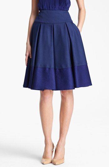 Oscar de la Renta Contrast Band Skirt available at #Nordstrom