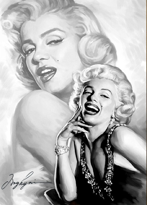 Marilyn Monroe (Drawing Collage )