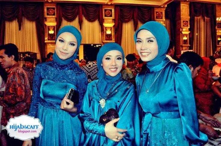 Hijabi bridesmaids // All but the left dress. #hijab #modest