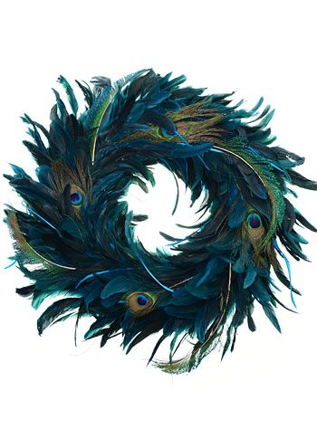 Do It Yourself Weddings: Peacock Wreaths For Your Wedding...........or in my case, your bedroom