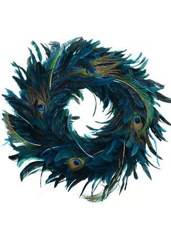 Do It Yourself Weddings: Peacock Wreaths For Your Wedding