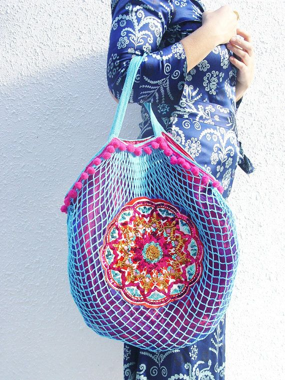 Mesh bag with sequins...  $65