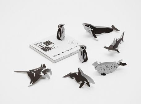 Mimoto - three-dimensional paper sea animal cards KAMI NO KOUSAKUJO