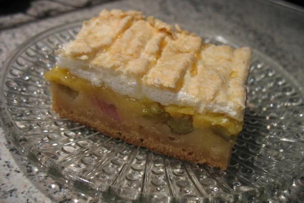 Rhabarber-Blechkuchen