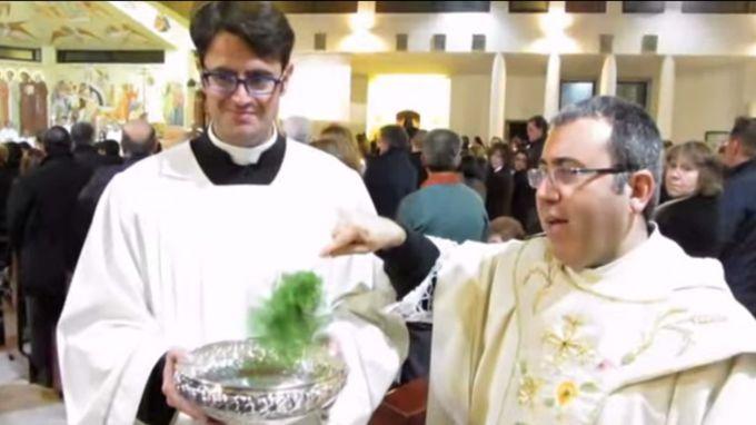 Seminarista Salvatore Mellone / Foto: Youtube de sscrocifissotv (CapturaVideo)