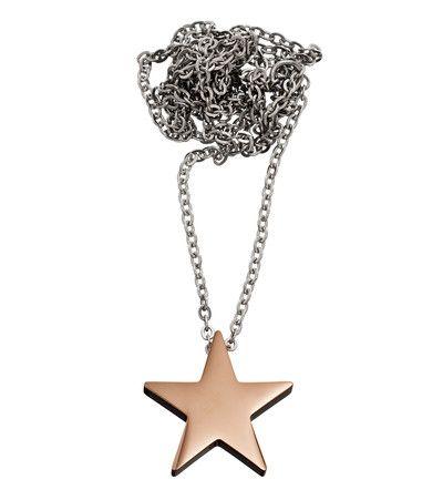 Star necklace thin rose gold -  Edblad