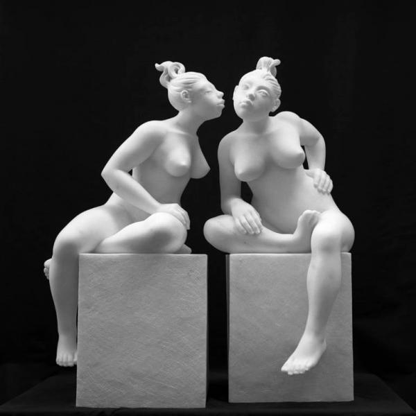 Le chiacchierone statuario (foto Sergio Fortuna)