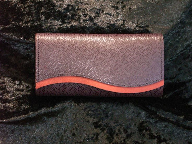 Purple Stingray pattern leather with red trim