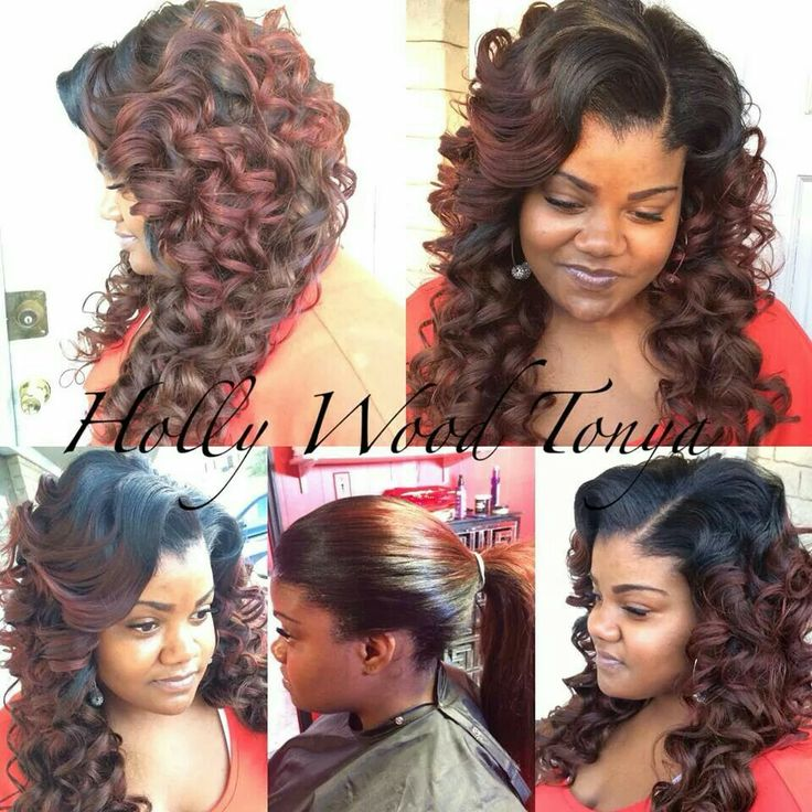 Pull Up Sew In With Wand Curls