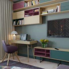 Salas de estar escandinavas por Anna Clark Interiors