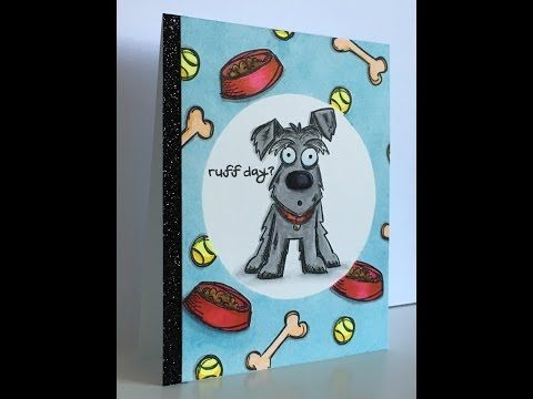 """Card Tutorial (Series) Feat. """"Crazy Dogs"""" by Tim Holtz - YouTube"""