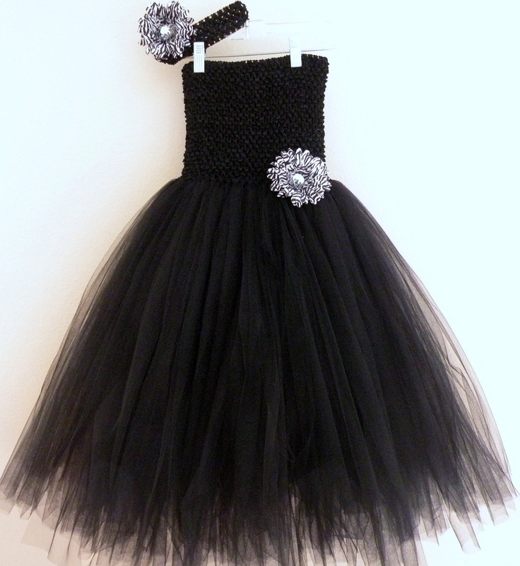 I know its for a little girl, but I want one in a big girl size...Black Tutu Dress and Matching Headband Set