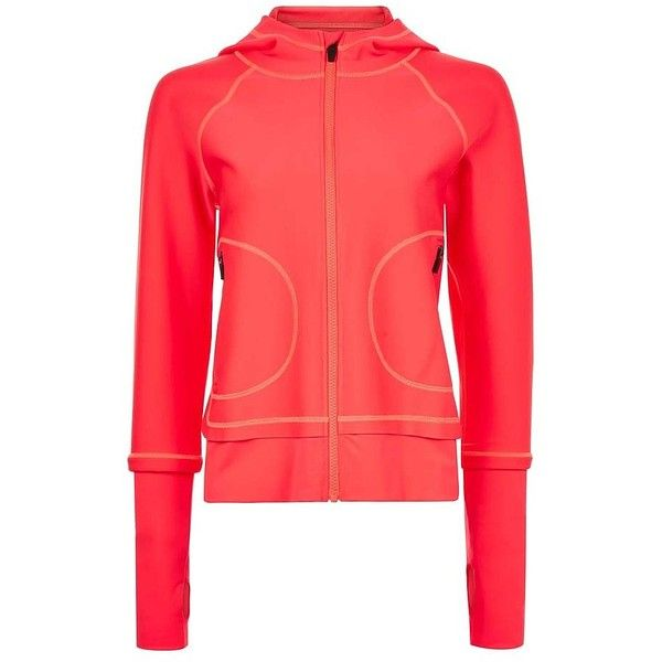 Sweaty Betty Ocean Bay Jacket (£160) ❤ liked on Polyvore featuring activewear, activewear jackets, red, wet suit, sweaty betty and neon activewear