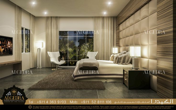 Modern bedroom interior design by algedra interior design for Classic master bedroom ideas