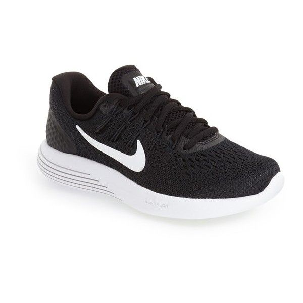 Women's Nike 'Lunarglide 8' Running Shoe (155 CAD) ❤ liked on Polyvore featuring shoes, athletic shoes, breathable shoes, breathable running shoes, breathable mesh shoes, light weight running shoes and nike athletic shoes