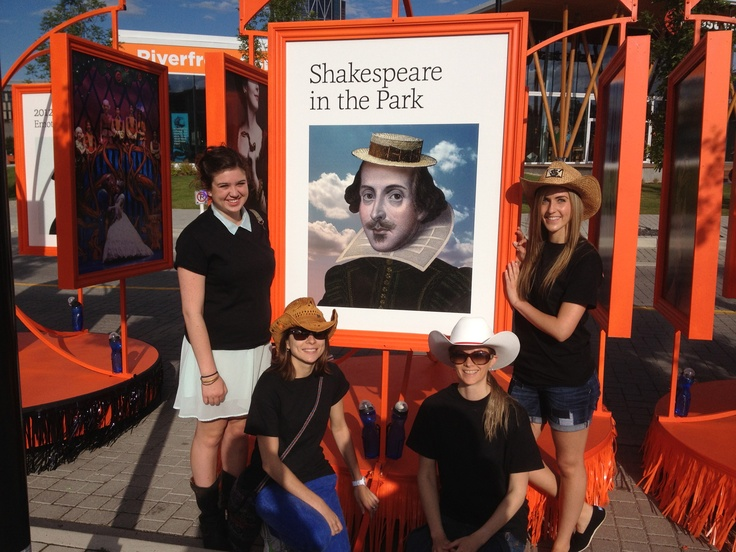 Shakespeare in the Park cover on the Theatre Calgary float for the Calgary Stampede Parade.