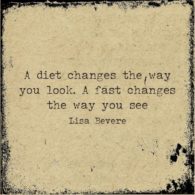This is weird that this is how I feel about fasting after a week... weird... you all should try it :)