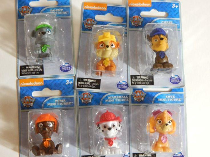 Paw Patrol Set 6 Mini Figures Rubble Chase Rocky Zuma Skye Marshall New in Box | Toys & Hobbies, TV, Movie & Character Toys, Other TV/Movie Character Toys | eBay!