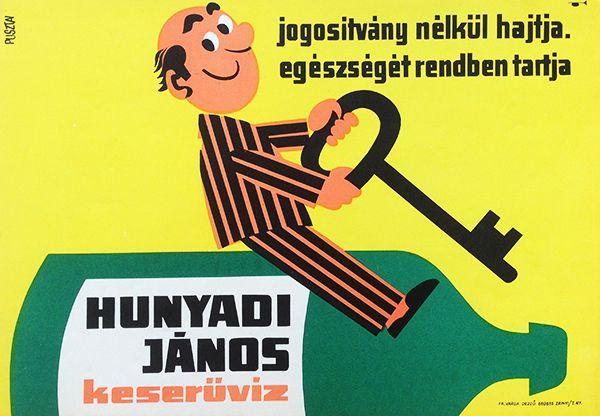 Hunyadi János Bitter Water / Hunyadi János Keserűvíz 1966 Artist: Pusztai Pál